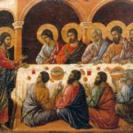 Risen Christ Appears to Apostles, Duccio (1308-11)