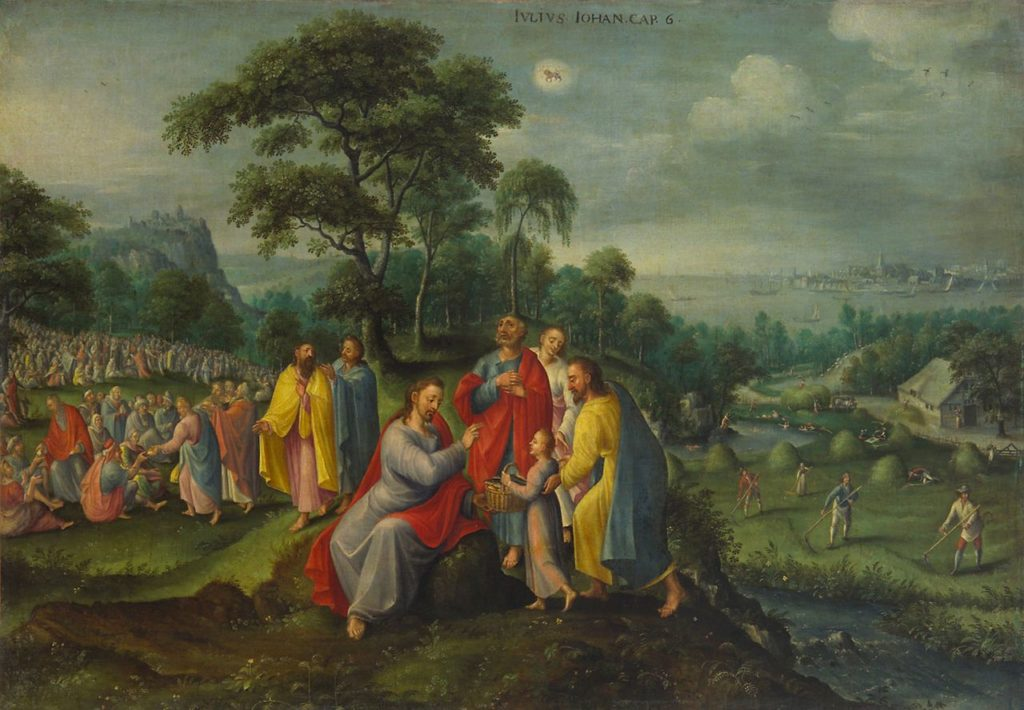 Feeding the Five Thousand by Marten van Valckenborch, circa 1580