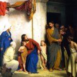 Christ with children by Carl Heinrich Bloch