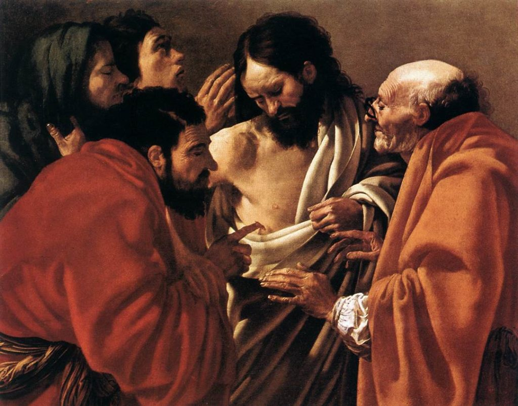 The Incredulity of Saint Thomas, Hendrickter Brugghen, c. 1622