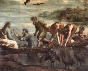 The Miraculous Draught of Fishes, by Raphael, 1515