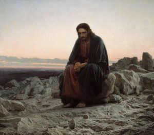 Christ in the Wilderness by Ivan Kramskoy, 1872