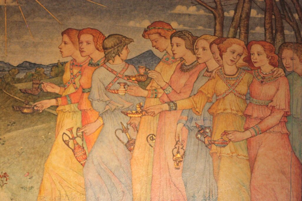 Parable of the Ten Virgins - Phoebe Traquair Mansfield