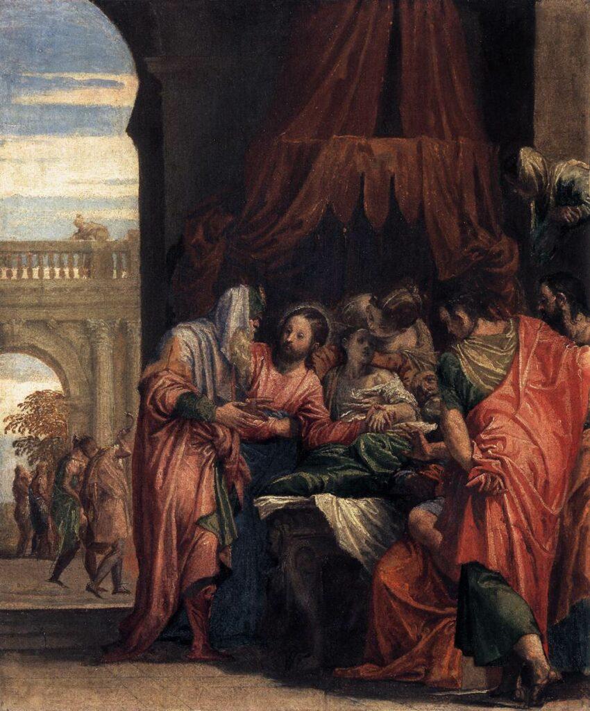Raising of Jairus' Daughter by Paolo Veronese, 1546